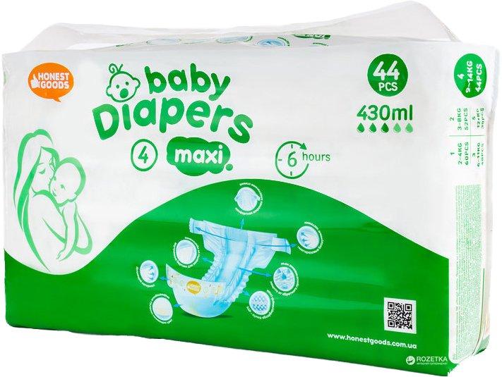 Детские подгузники Honest Goods Maxi 9-14 кг 44 шт (3800500611044) - изображение 1