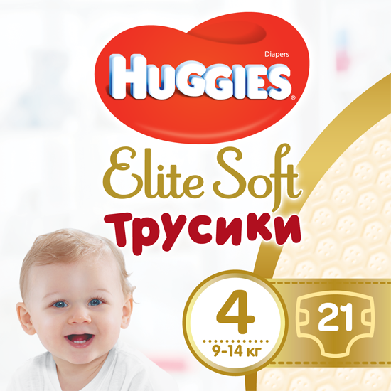 Трусики-подгузники Huggies Elite Soft Pants 4 (L) 21 шт (5029053546971) - изображение 1