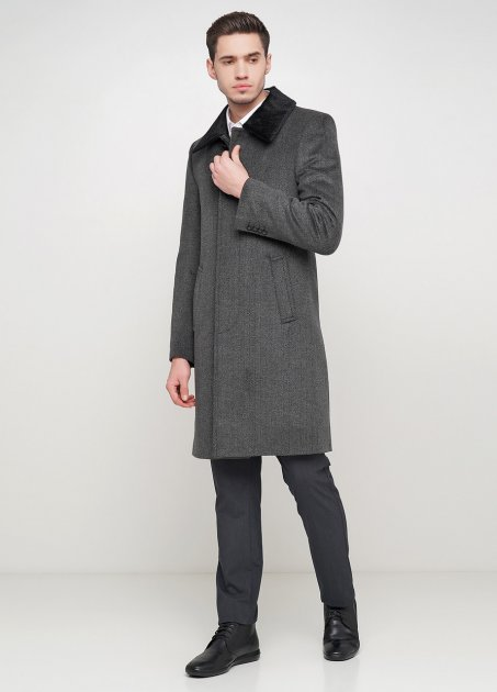 Мужское пальто Mia-Style DIP-3 54 серый - изображение 1