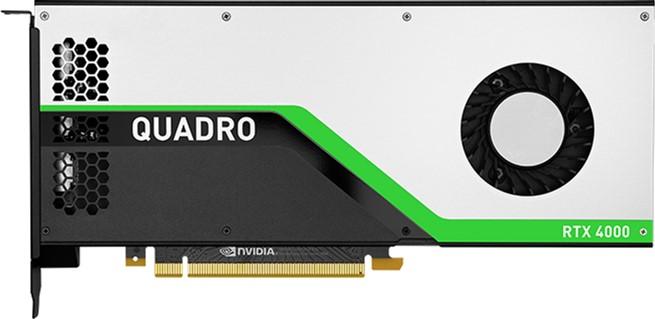 PNY PCI-Ex NVIDIA Quadro RTX4000 8GB GDDR6 (256bit) (3 x DisplayPort, 1 x VirtualLink) (VCQRTX4000-PB) - изображение 1