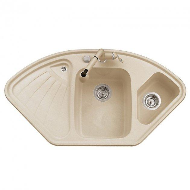Кухонна мийка AQUAMARIN TERA 106-60 BG Бежевий - зображення 1