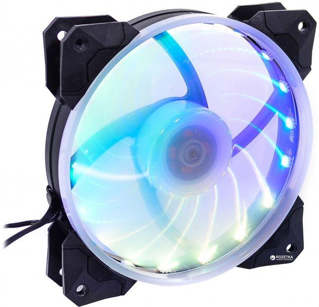 Вентилятор QUBE RGB Rainbow Chamelion 256C 120 мм 18 LED (QB-CHAMELION-120-18) - изображение 1