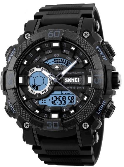 Мужские наручные часы Skmei Tornado, водонепроницаемые с подсветкой - изображение 1