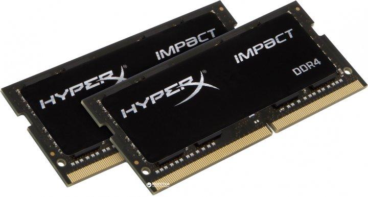 Оперативна пам'ять HyperX SODIMM DDR4-2933 32764 MB PC4-23500 (Kit of 2x16384) Impact (HX429S17IB2K2/32) - зображення 1