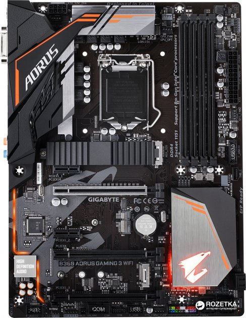 Материнська плата Gigabyte B360 Aorus Gaming 3 Wi-Fi (s1151, Intel B360, PCI-Ex16) - зображення 1