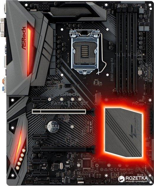 Материнська плата ASRock Fatal1ty B360 Gaming K4 (s1151, Intel B360, PCI-Ex16) - зображення 1