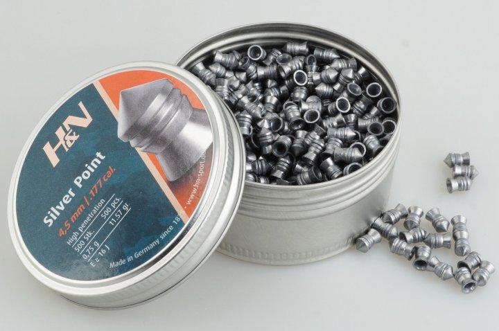 Свинцовые пули H&N Silver Point (0.75г, 500 шт) - изображение 1