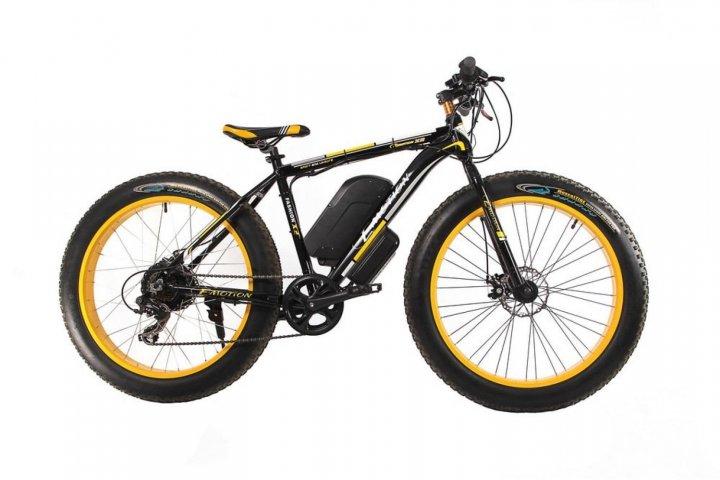 "Електровелосипед E-motion Fatbike 48V 1000 Вт 26"" чорно-жовтий (EFB-BLACK-YELLOW) - зображення 1"