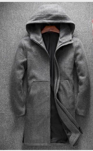 Пальто Chernyy Kot 2001-GR Серый S - изображение 1