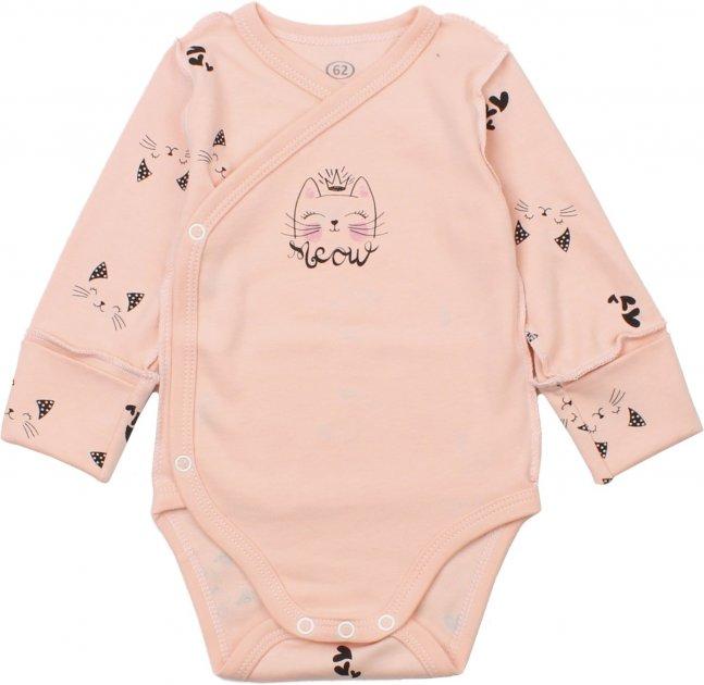 Боди-распашонка Фламинго 146-222 56 см Персиковая (4829960105688) - изображение 1