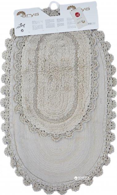Набір килимків у ванну кімнату Arya Afro 60x100 і 50x60 Бежевий (TR1003687) - зображення 1