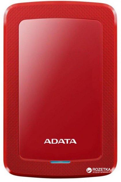 Жесткий диск ADATA DashDrive HV300 2TB AHV300-2TU31-CRD 2.5 USB 3.1 External Slim Red - изображение 1