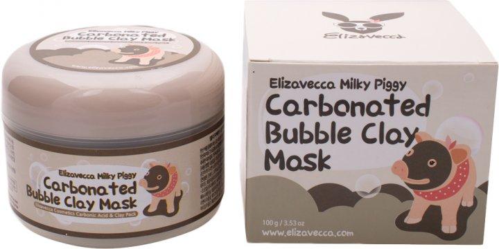 Маска для лица Глиняно-пузырьковая Elizavecca Milky Piggy Carbonated Bubble Clay Mask 100 мл (8809071369427) - изображение 1