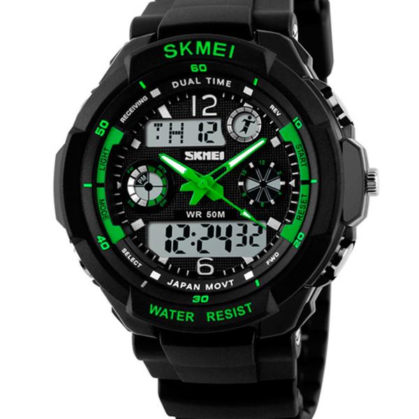 Чоловічі годинники Skmei S-Shock Green 0931 - изображение 1