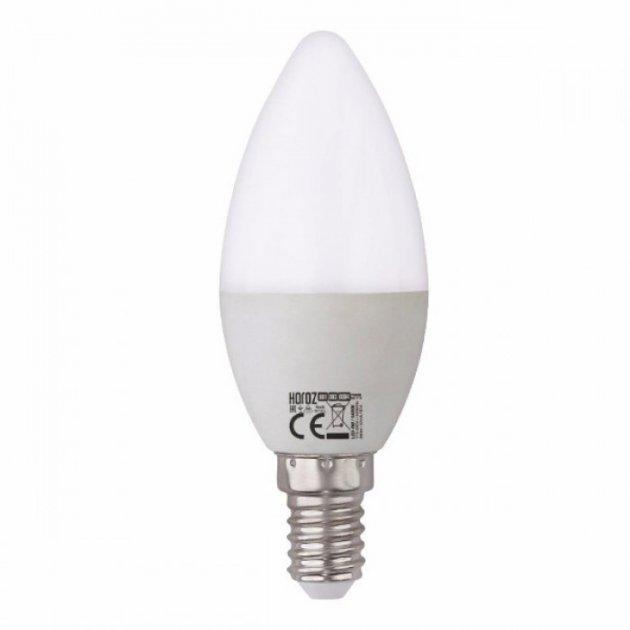 Лампа светодиодная свеча Horoz Electric Ultra-6 6 Вт 480 Лм 3000К Е27 (001-003-000624) - изображение 1