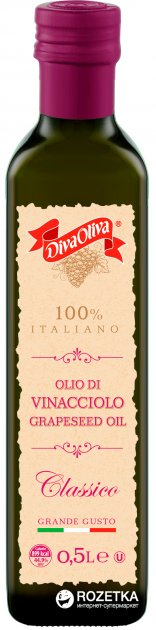 Масло из виноградных косточек Diva Oliva Vinacciolo Classico 500 мл (5060235657009) - изображение 1