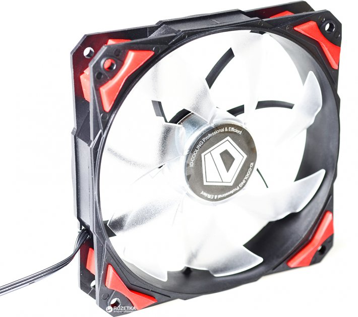 Кулер ID-COOLING PL-12025-R Red LED - зображення 1