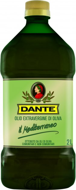 Оливковое масло Olio Dante Il Mediterraneo первого холодного отжима класса Extra Virgin 2 л (8033576195155)