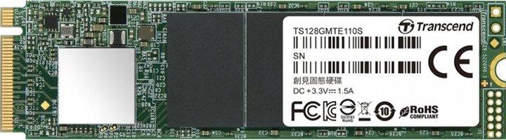Transcend MTE110S 128GB M.2 2280 PCIe 3.0 x4 3D NAND TLC (TS128GMTE110S) - зображення 1