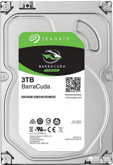 Жорсткий диск Seagate Barracuda 3TB 5400rpm 256MB ST3000DM007 3.5 SATAIII - зображення 1