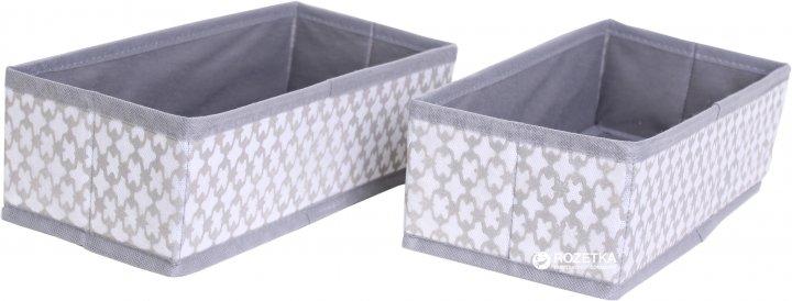 Набір органайзерів Design Line 485593 French Grey 14x29x9 см 2 шт. (4822752485593) - зображення 1