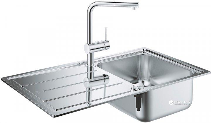Кухонная мойка GROHE Sink K500 860x500 31573SD0 (31571SD0 сатин со смесителем Minta 32168000) - изображение 1