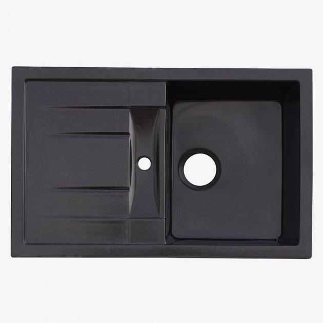 Мойка Кухонная Platinum Troya 7850 Чёрный - изображение 1
