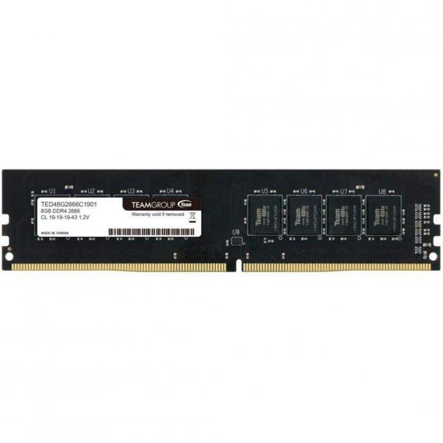 Модуль пам'яті для комп'ютера DDR4 8GB 2666 MHz Team Elite (TED48G2666C1901) - зображення 1