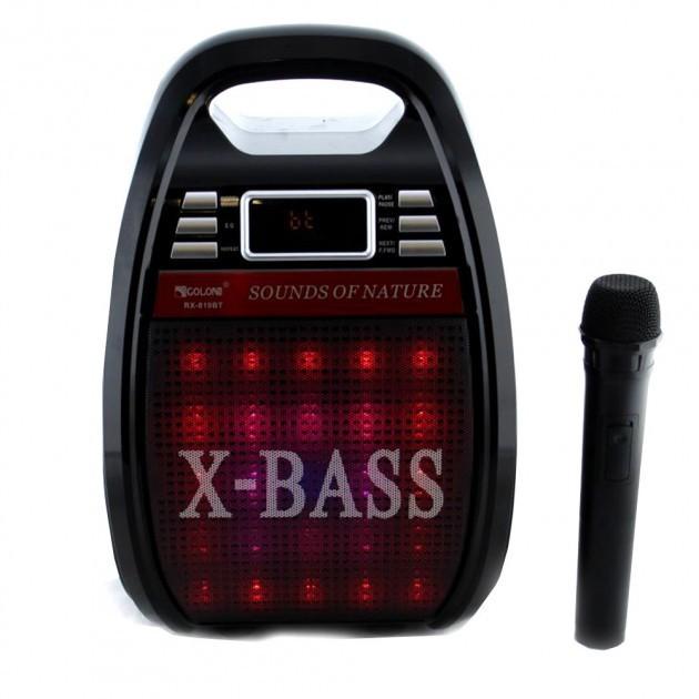 Колонка комбик Golon Bluetooth mp3 радиомикрофон пульт цветомузыка Golon RX-810 BT - изображение 1