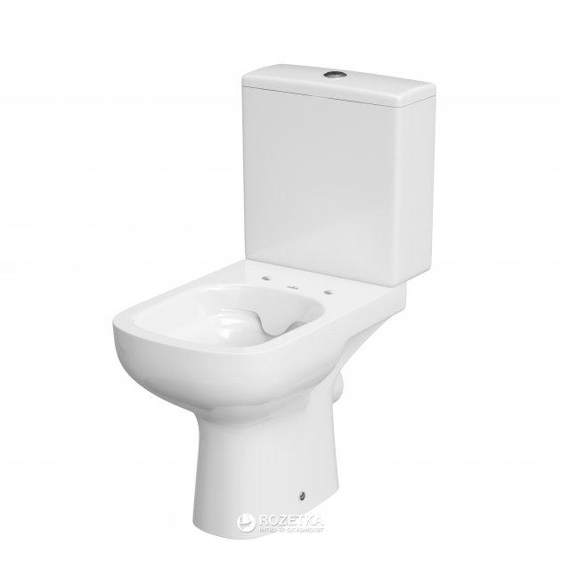 Унітаз-компакт CERSANIT COLOUR NEW CLEAN ON 011 3/5 л з бачком і сидінням дюропласт Soft Close білий - зображення 1