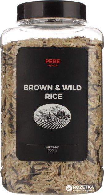 Смесь риса Pere нешлифованного и дикого 800 г (4820191590526) - изображение 1