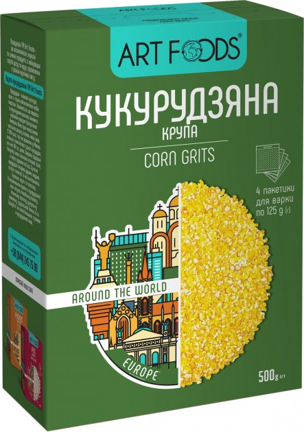 Крупы кукурузные ArtFoods 4 х 125 г (4820191590892) - изображение 1