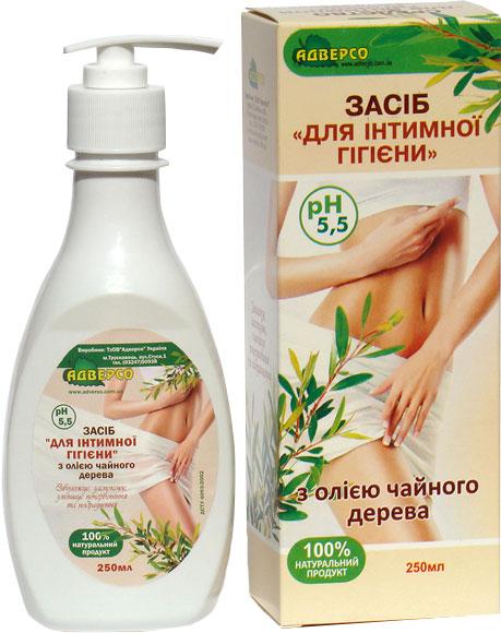 Засіб для інтимної гігієни Адверсо з олією чайного дерева 250 мл (4820104013173) - зображення 1