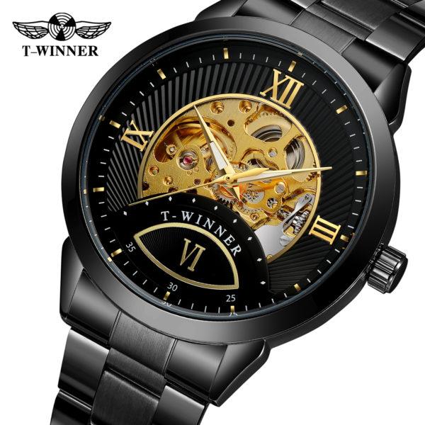 Мужские часы T-Winner Skeleton Automatic horloge (WRG8183M4B1) - изображение 1