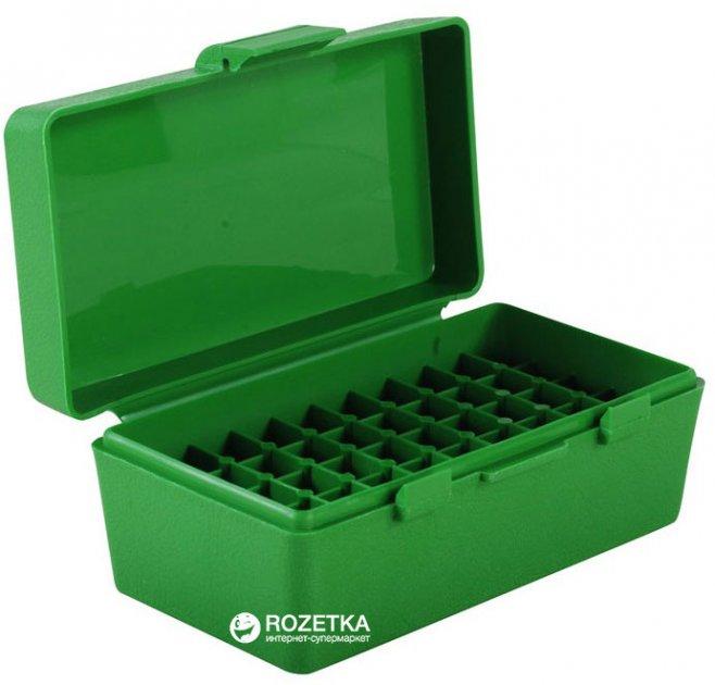 Кейс МТМ P-50 для пистолетных патронов 7.62 х 25, 5.7 х 28, 357 Mag на 50 патр. Зеленый (17731009) - изображение 1