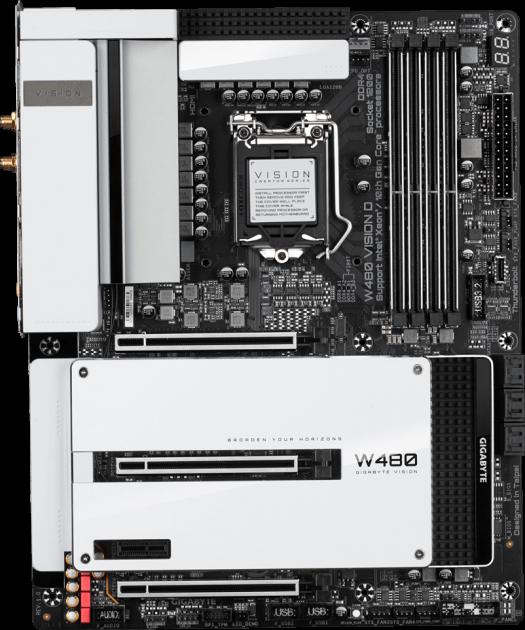 Материнська плата Gigabyte W480 VISION D (s1200, Intel W480, PCI-Ex16) - зображення 1