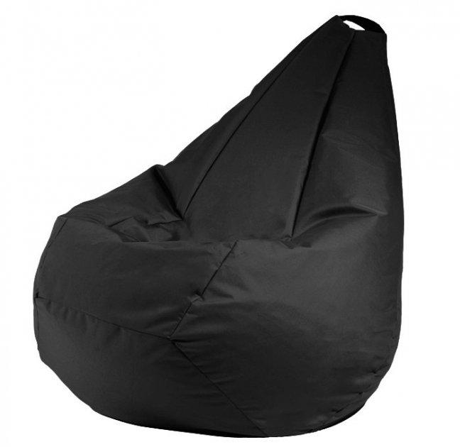Крісло мішок груша 120х85см Чорний - зображення 1
