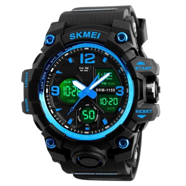 Чоловічий спортивний кварцовий годинник Skmei Hamlet Blue 1155B - изображение 1