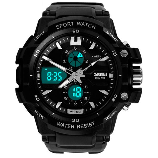 Чоловічий спортивний водостійкий годинник Skmei Resist 0990 - изображение 1