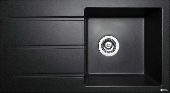 Кухонная мойка MIRAGGIO Tennessy 770x430 матовая черная + сифон для кухонной мойки L.B. PLAST СФ-1 - изображение 1
