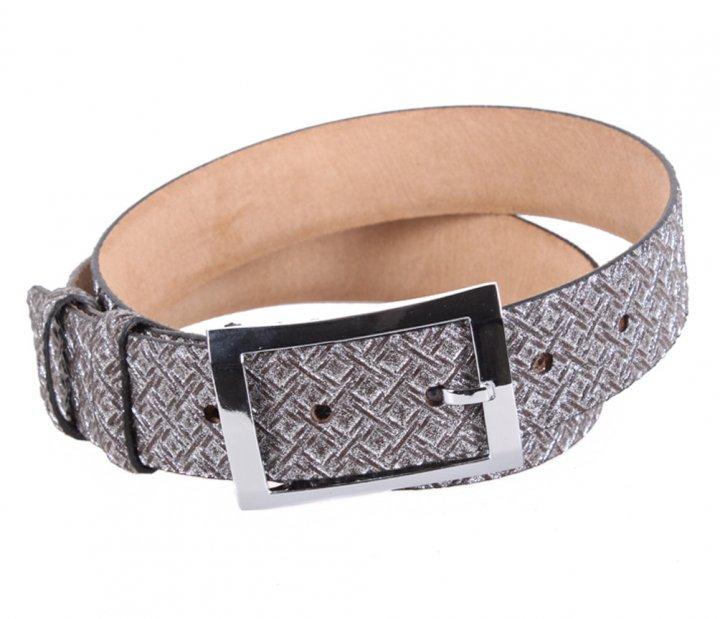 Женский кожаный ремень Dovhani WAK1388-106 110-115 см Серебристый - изображение 1