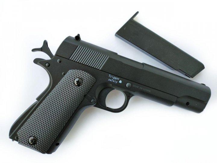 Іграшковий пістолет на пульках металевий дитячий CYMA ZM19 / ЗМ 19 - зображення 1