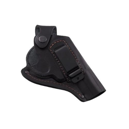 Кобура поясна Beneks Револьвер 3 формована з кліпсою Шкіра Чорна - зображення 1