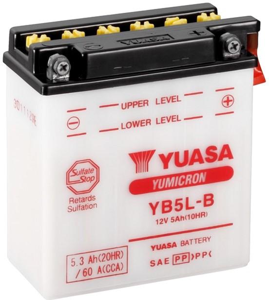 Мото аккумулятор Yuasa 12V 5.3Ah YuMicron Battery YB5L-B (сухозаряжений) (YB5L-B)