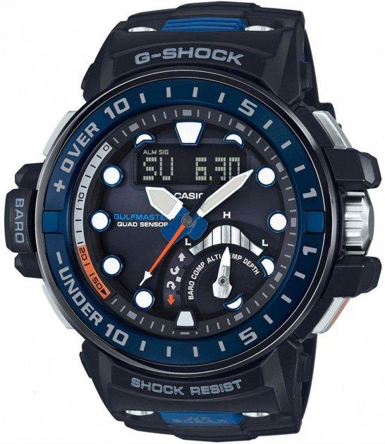 Чоловічі годинники CASIO GWN-Q1000-1AER - зображення 1