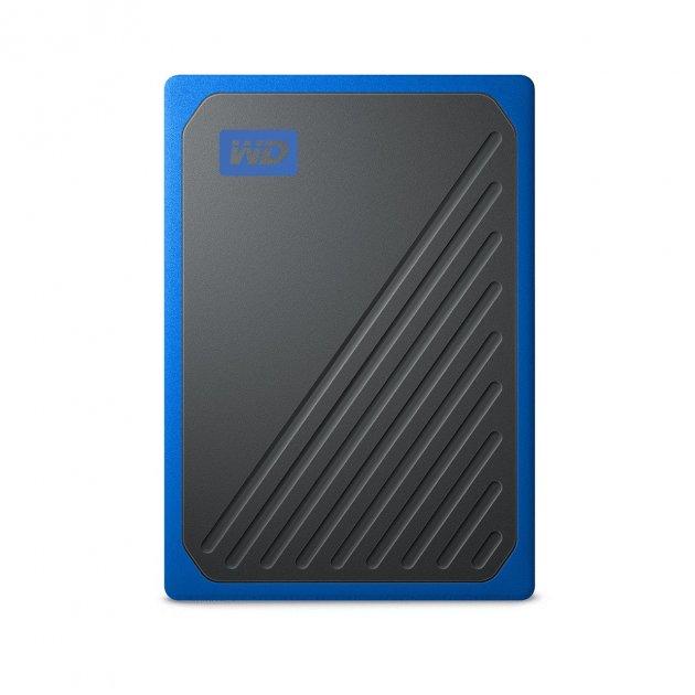 """Накопичувач зовнішній SSD"""" USB 1TB WD My Passport Go Blue (WDBMCG0010BBT-WESN) - зображення 1"""