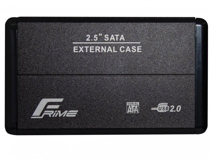 "Внешний карман Frime SATA HDD/SSD 2.5"", USB 2.0, Metal, Black (FHE20.25U20) - изображение 1"