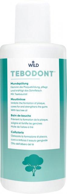 Ополаскиватель для полости рта Dr. Wild Tebodont с маслом чайного дерева без фторида 400 мл (7611841701655) - изображение 1
