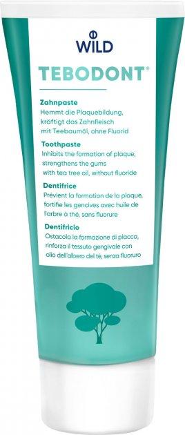 Зубная паста Dr. Wild Tebodont c маслом чайного дерева без фторида 75 мл (7611841701280) - изображение 1