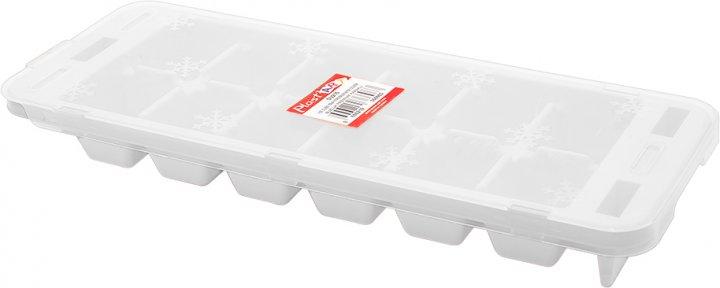 Форма для льда Irak Plastik Premium с крышкой Белая SU-215 (5972kmd) - изображение 1